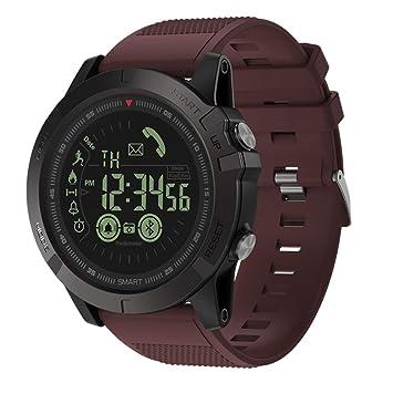 axusndas Reloj Inteligente para Hombres, T1 Tact Deportes al Aire Libre Relojes Inteligentes Bluetooth con notificación de Llamadas por SMS Contador de ...