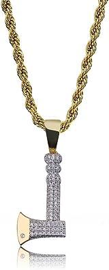 Vintage Hollow Out Cross Pendant Necklaces For Men Micro Pave Zircon Necklaces