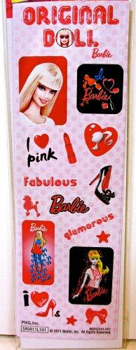 Mattel Stickers - Mattel Barbie Stickers,original Doll Barbie,fashion Images,make-up,pink
