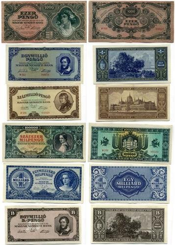 HUNGARIAN NOTES GLOSSY POSTER PICTURE PHOTO hungary money currency (Hungary Note)