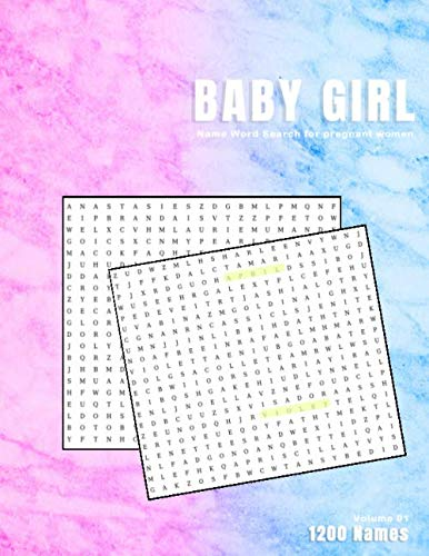 Baby Girl Name word search for pregnant women: Female Finder word full of Girls names for new mothers | Find your unique new daughters name and through a word hunt