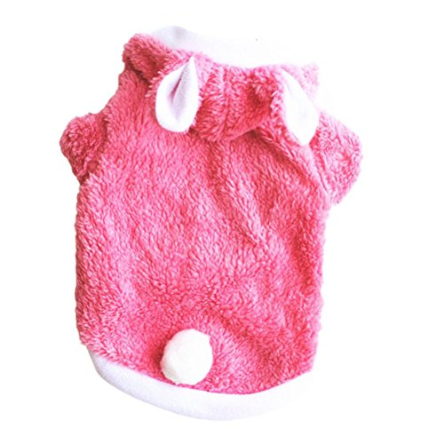 Small & Big Dog Velvet Clothes Winter Outwear, Gotd Pet Dog Cat Puppy Costumes Dressing Up Party, Festival Warm Sweater Knitwear (XS, Pink)