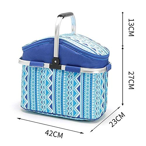 Kylinyyl Insulated Portable Tote Bag - Large Picnic Lunch Cooler Bags - Mens and Womens Oversized Travel Totes for Food, Beverages and Wine (Color : Blue) -
