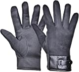 Outrip Men's Winter Warm Gloves Touch Screen Windproof Driving Cycling Gloves (Black)