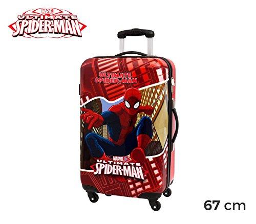 mws3076–4451551mueble–Maleta–Equipaje de mano rígida de ABS Spiderman 67x 42x 24cm