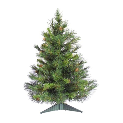 Vickerman Cheyenne Tabletop Tree, 24-Inch, Pine Green made our list of the most unique camping Christmas tree ornaments to decorate your RV trailer Christmas tree with whimsical camping themed Christmas ornaments!
