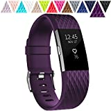 Geak Fitbit Charge 2 Bands, Special edition Replacement bands for Fitbit Charge2, Small Plum