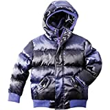 Appaman Girls' Puffy Coat, Purple Wave, 5