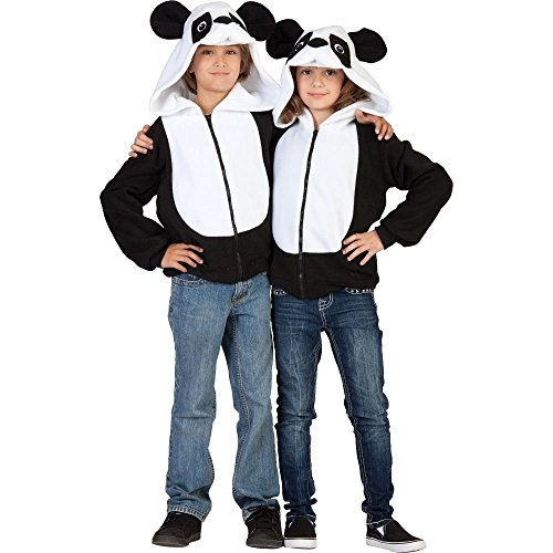 RG Costumes 'Funsies' Parker Panda Hoodie, Child Medium/Size 8-10 (Funsies Parker The Panda Unisex Costume)