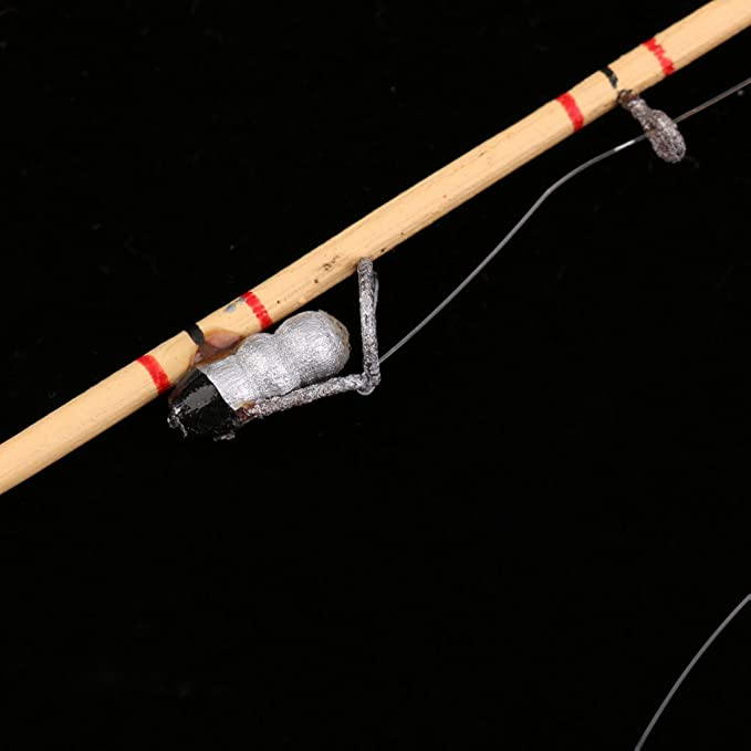 Dollhouse Artisan Wood Fishing Rod Pole 12th Dolls House Miniatures Decor
