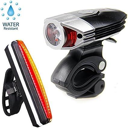 Eclairage vélo avant et arrière lampe rechargeable super brillante rechargeable