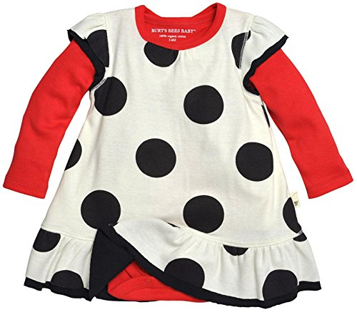 Burt's Bees Baby Baby Girls' Ruffle Dress and Bodysuit (Organic L/s Bodysuit)