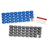 Monthly Pill Organizer 2 Times A Day AM/PM 31 Day Pill Box, Removable Daily Pill Case with Bonus Medical Alert Card, Travel Medicine Organizer for Supplements, BPA Free and Unconditional Guarantee