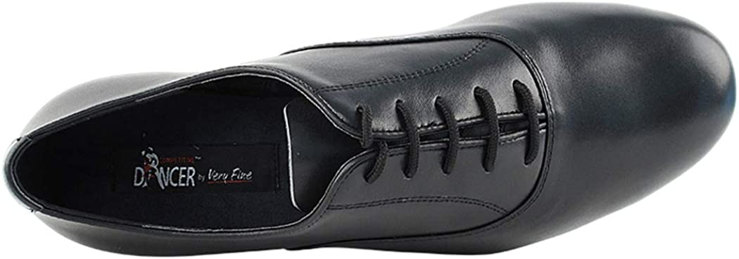 6.5 Very Fine Shoes Mens Standard /& Smooth Competitive Dancer Series CD1420 Black Leather with 1 Heel
