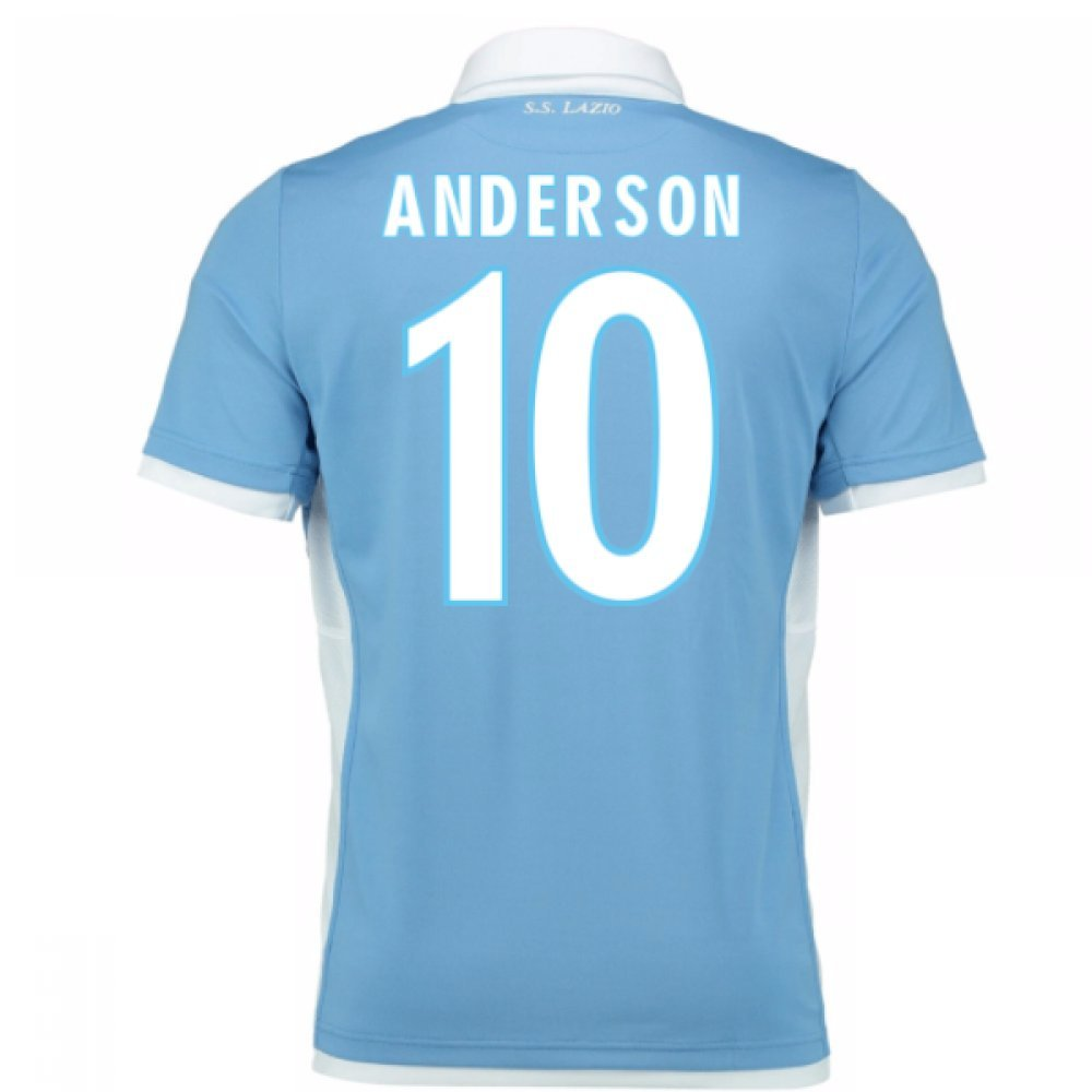 2016-2017 Lazio Authentic Home Match Shirt B01M5DB2R6 Small Adults|Anderson 10 Anderson 10 Small Adults