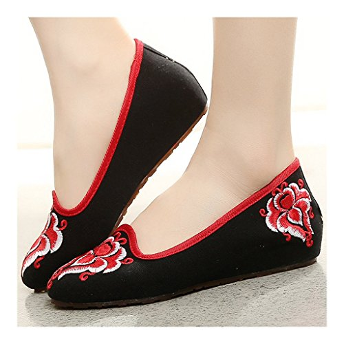 38 Beijing Pointed Cloth Kite Old Shoes Embroidered black xq0SCxwOEn