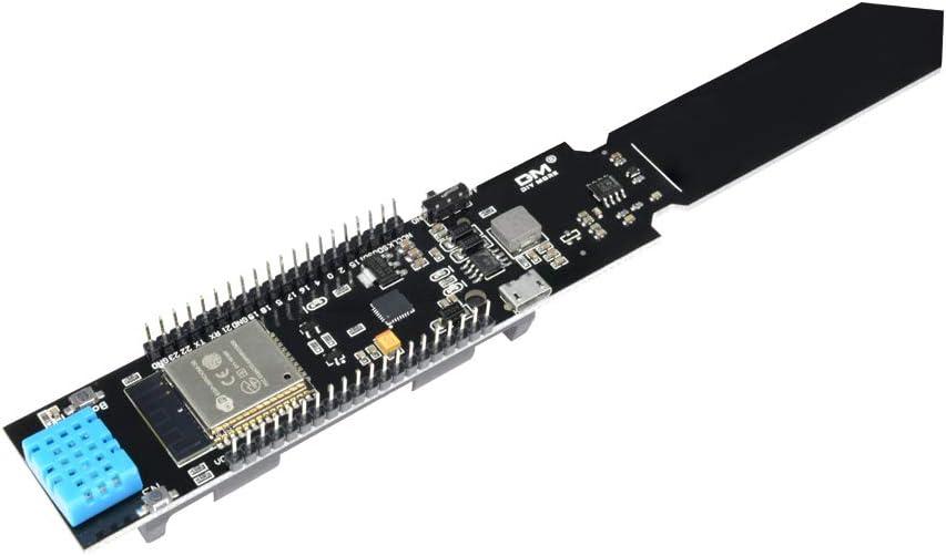 Diymore ESP32 WiFi Bluetooth Batería DHT11 Sonda Humedad Temperatura Módulo Sensor CP2104 Higrómetro Humedad Detector Metro para Arduino
