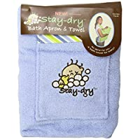 Stay-Dry Bath Apron and Towel, Blue