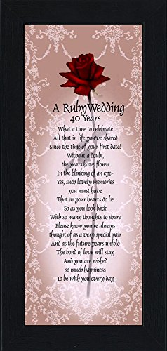 Couples Halloween Costume Ideas Pictures (Ruby Anniversary, Personalized Ruby Wedding Anniversary Picture Frame, 40th Wedding Anniversary, 6x12 7776BC)