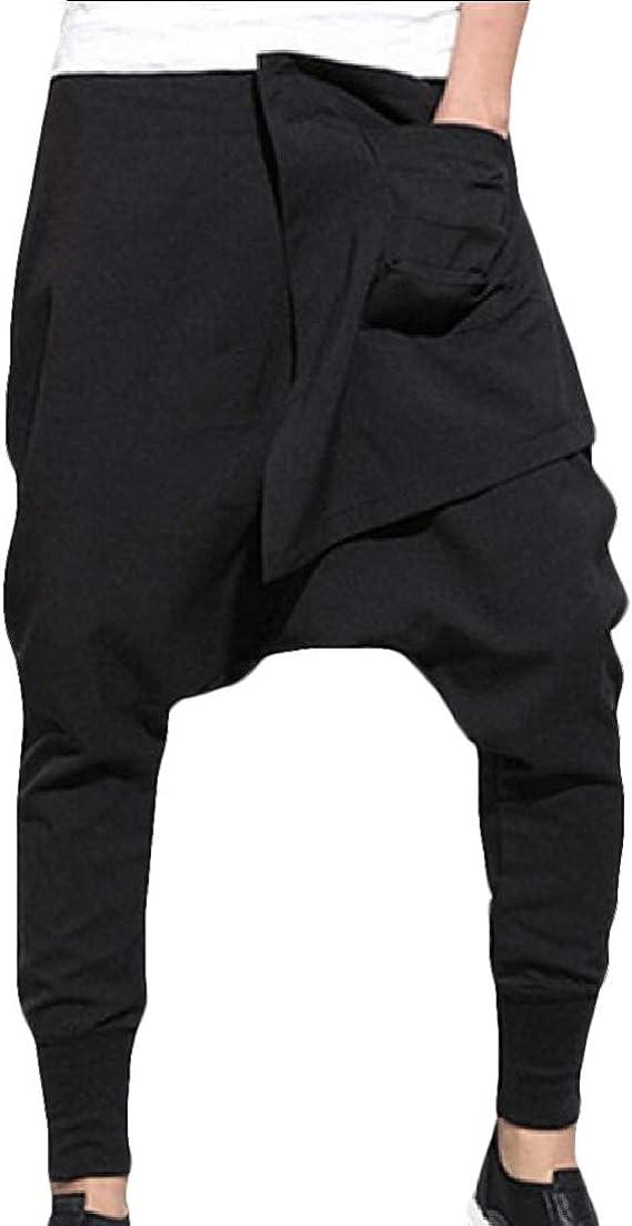 Sconosciuto Pantaloni da Jogger da Uomo con Cavallo Basso