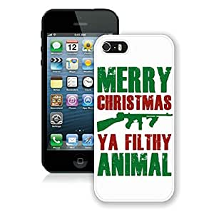 Diy Iphone 5S Protective Case Merry Christmas iPhone 5 5S Case 20 White