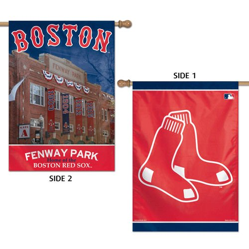 WinCraft MLB Boston Red Sox 41146013 2 Sided Vertical Flag, 28