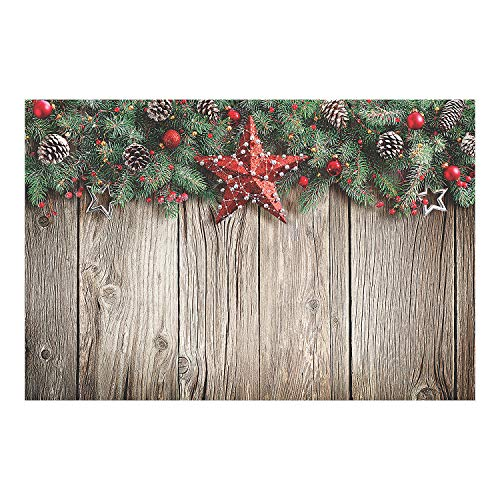 Christmas Barnwood Design Backdrop Banner