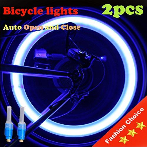 Vabration Sensor Waterproof Shockproof Lamp Bicycle Wheel Neon Tire Valve Led Light 2 pieces (Blue color - Blue light) - Blue Neon Lamp