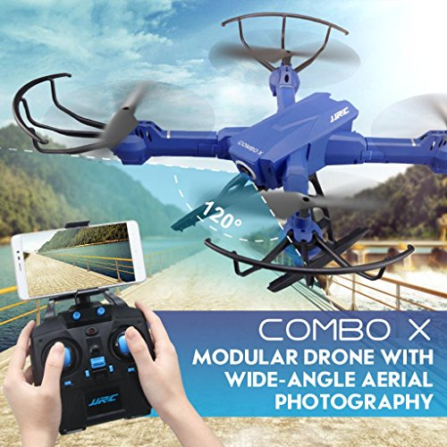 Iusun JJRC H38 FPV RC Quadcopter 2.4G 4CH 6 RC Drone Axes & 2MP Wide Angle WIFI Camera (Blue) by Iusun