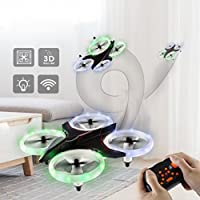 Mintu Mini Quadcopter Drone, 2.4Ghz 4CH 6-Axis GYRO UFO Dinosaur RC Headless LED Attitude Hold for Kids Adults Beginners