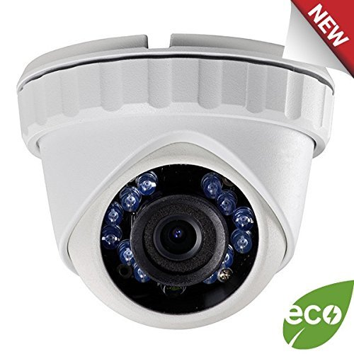 LTS Platinum 2.1MP 1080p HD-TVI Eyeball IR Turret Camera: 2.8mm, White, 65 ft Infrared, IP66, 12v DC, ICR, OSD/UTC, 3yr