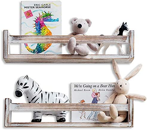MAINEVENT Rustic Floating Nursery Shelves product image