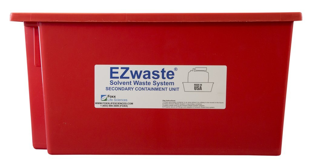 EZwaste Secondary Container Spill Basin, Safety Tray for 60L-90L (15 to 23 Gallon) Carboys, Bottles, and DOT Waste Containers