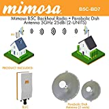 Mimosa B5C Backhaul GPS MIMO PoE + Parabolic Dish Antenna 5GHz 25dBi (2-UNITS)