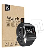 (3 PACK) Fitbit Ionic Screen Protector, KAMII [Full Coverage] [Case Friendly] [Not Glass] HD Clear Anti-Fingerprint Touch Protective Anti-Bubble Film Screen Protector for Fitbit Ionic Smart Watch