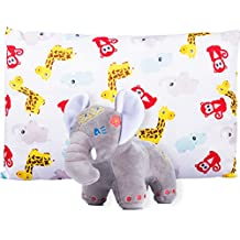 Toddler Pillowcase 14X19 with Plush Elephant: Bundle by Fluffy Dreamz