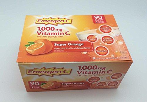 Emergen-C 1000 mg Vitamin C - Super Orange Flavor