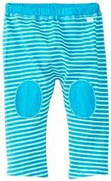i play. Baby Organic Yoga Pants,Aqua Stripe,12-18 Months