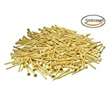 500 Count Bamboo Golf Tees 2-3/4 Inch Virtually Unbreakable - 7x Stronger Than Wood Tees, Premium, Eco-friendly, Natural Wood Color