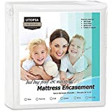 Utopia Bedding Waterproof Zippered Mattress Encasement Cover - Bed Bug Proof, Vinyl Safe and Hypoallergenic Protection (Twin)