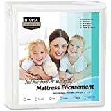 Utopia Bedding Zippered Mattress Encasement - Bed Bug Proof, Dust Mite Proof Mattress Cover - Waterproof Mattress Cover Protects from Insects and Fluids (Queen)