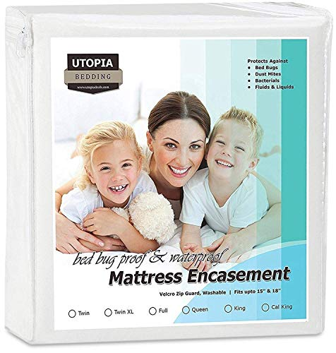 Utopia Bedding Zippered Mattress Encasement - Bed Bug Proof, Dust Mite Proof Mattress Cover - Waterproof Mattress Cover Protects from Insects and Fluids (Twin) by Utopia Bedding