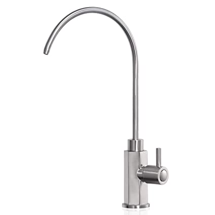 Peppermint Heavy Duty Non Air Gap 100 Lead Free Drinking Faucet For Water Filtration Reverse Osmosis Systems Brushed Nickel Contemporary Style High Spout Amazon Com