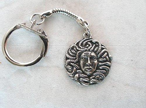 Solid Pewter Medusa Keychain ()