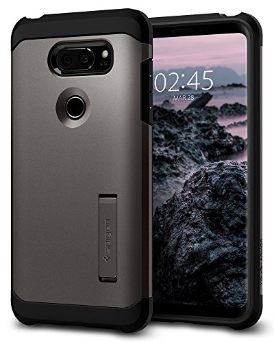 Spigen Tough Armor LG V30 Case with Kickstand and Heavy Duty Protection for LG V30 (2017) - Gunmetal