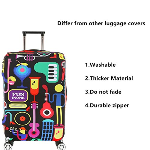 Fvstar Washable Luggage Cover Spandex Baggage Cover Travel Suitcase Covers Carry on Dust Proof Cover