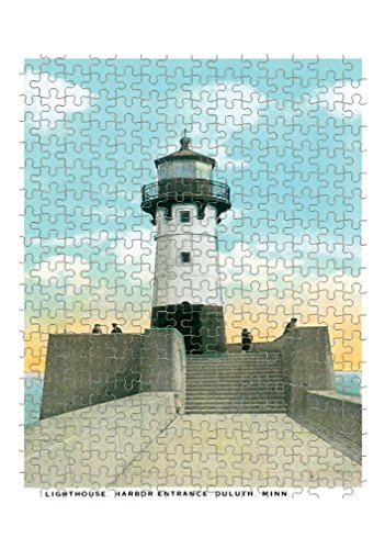 Lighthouse, Harbor Entrance, Duluth, Mn Jigsaw Puzzle Print 252 Pieces ()