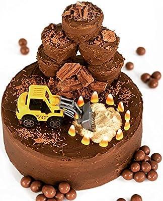 Awe Inspiring Digger Birthday Cake Decorating Kit Amazon Co Uk Grocery Funny Birthday Cards Online Necthendildamsfinfo