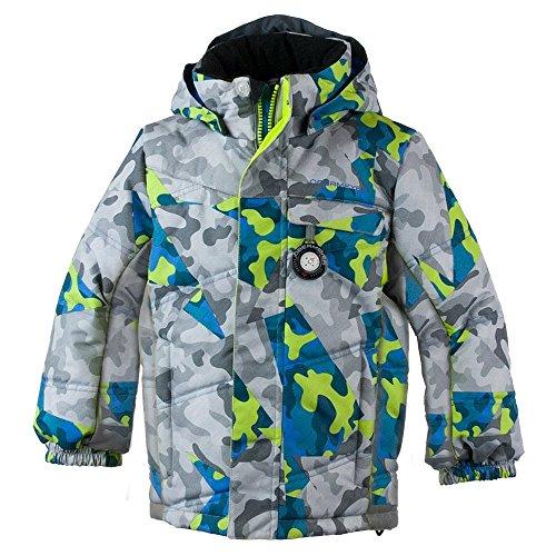 Obermeyer Kids Boys Hawk Jacket Fractal Camo 4 (Obermeyer Boys Mitten)