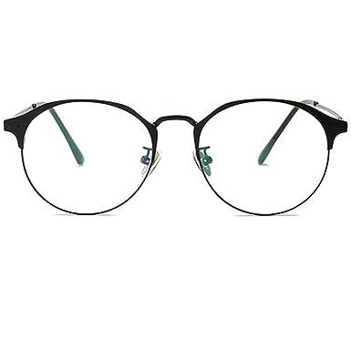78fb13a47e Metal Unisex Glasses Frames Clear Lens Reading Business Glasses Square  Front Half Rim Full Rim Super Light High Quality  Amazon.co.uk  Clothing